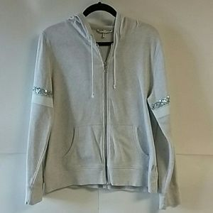 VICTORIAS SECRET Sequin Zip Up Hoodie
